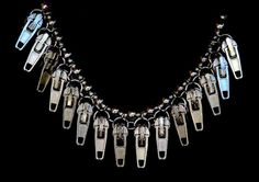 NECKLACE ZIPPER PULLERS Bold and Elegant Eye Catcher Sophisticated Chic Unique Funky Boho Dare to Wear