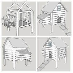 At the age of six weeks, chickens need something more to live in than a cardboard box. When you decide to breed baby chicks; you will need to have a nice coop for them. As a start, you could try one of these fancy DIY vintage coop plans. Backyard Chicken Coop Plans, Building A Chicken Coop, Chickens Backyard, Mobile Chicken Coop, Portable Chicken Coop, Chicken Barn, Chicken Coup, Chicken Coop Designs, Chicken Coop Blueprints