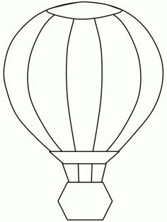 Hot Air Balloon Transportation Coloring Pages