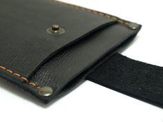 Sleeve for Iphone 6 Handmade from black with black by TIZART