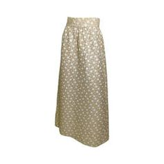 Vintage Bergdorf Goodman Couture A-Line Maxi Skirt 12/10/1970
