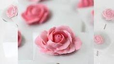 how to make an icing rose without wire - YouTube