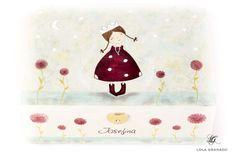 #Joyero de #madera Josefina vestido de lunares, pintado a mano, #personalizado. www.lolagranado.com