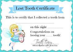 Tooth Fairy Certificate Free Printable! - SimplyGloria.com