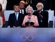 Queen Elizabeth II Photos - Queen Elizabeth II speaks during the Opening Ceremony of the London 2012 Olympic Games at the Olympic Stadium on July 2012 in London, England. Jim Harbaugh Memes, Paralympic Athletes, Olympics Opening Ceremony, Team Gb, Face Photo, Queen Elizabeth Ii, Olympians, Olympic Games, British Royals