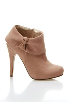 Taupe Booties $30
