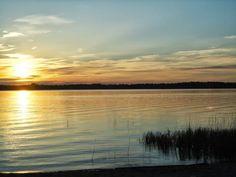 Sunset at Nummijärvi, Finland.