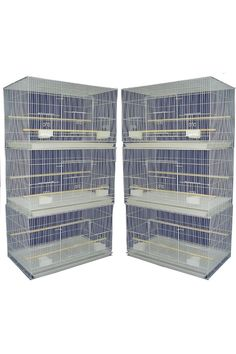 (This is an affiliate pin) 2424 Brand New Lot of Six Small Aviary Breeding Flight Bird Cage For Parakeet, Canary, Finch, Loverbirds Or small birds In White Cat Feeder, Small Birds, Parakeet, Bird Cage, Patterned Shorts, Cats, Printed Shorts, Gatos, Little Birds