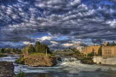 Spokane, Washington.  On a 3 week road trip we visited Spokane for the first time and saw my husband's cousins.  I had heard a lot about Spokane from one of my closest friends so it was fun to see in person.