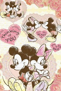 Mickey and Minnie Disney Mickey Mouse, Mickey Mouse Kunst, Mickey Mouse Images, Mickey Mouse And Friends, Mickey Love, Disney Kunst, Arte Disney, Disney Art, Mickey Mouse Wallpaper