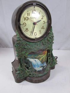 shopgoodwill.com: Vintage Master Crafters Waterfall Clock Model 344