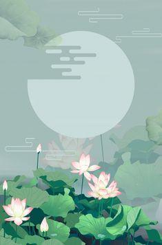 Lotus Flower Wallpaper, Flower Backgrounds, Colorful Wallpaper, Of Wallpaper, Japanese Flowers, Japanese Art, Graphic Design Illustration, Illustration Art, Lotus Art