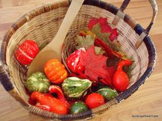 the journals of a Laura Ingalls wannabe: Autumn Treasure Basket Heuristic Play, Treasure Basket, Messy Play, Infant Activities, Autumn Theme, Diy For Kids, Laura Ingalls, Serving Bowls, Journals