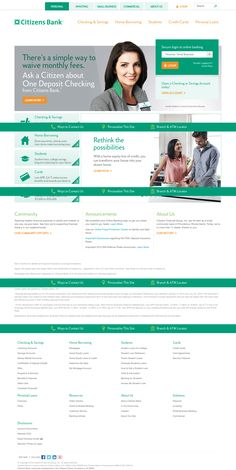 Citizens Bank marketing website Banks Website, Home Equity, Make Ready, Ui Inspiration, User Interface Design, Financial Markets, Student Loans, The Borrowers