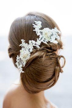 Posh bridal updo   20 Gorgeous Wedding Hairstyles via @BelleMagazine
