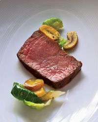 To serve with his succulent beef rib eye roast, Tim Hollingsworth prepared a surprisingly simple garnish of sautéed brussels sprout leaves, which he m Rib Eye Recipes, Entree Recipes, Steak Recipes, Wine Recipes, Cooking Recipes, Ribs On Grill, Beef Ribs, Brussels Sprouts Leaves Recipe, Best Rib Eye Steak Recipe