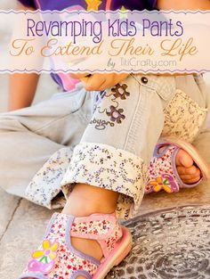 DIY Revamping Kids Pants to Extend Their Life - Titicrafty by Camila Sewing For Kids, Baby Sewing, Diy For Kids, Sew Baby, Sewing Hacks, Sewing Tutorials, Sewing Projects, Sewing Diy, Recycling Projects