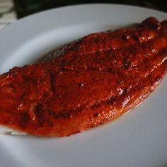 Pescado a la Parrilla con Achiote Atıştırmalıklar - Atıştırmalıklar - Las recetas más prácticas y fáciles Carne, Steak, Lunch, Fish, Dinner, Cook, Grilled Fish, Bon Appetit, Best Recipes