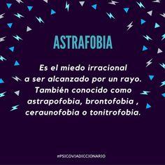 ¿Conoces a alguien con #astrafobia? #PsicoviaDiccionario  https://www.psicovia.com/psicovia-cul…/psicovia-diccionario/