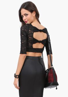 Shimmer Lace Crop Top