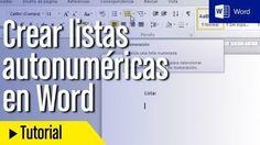 articuloseducativos.es: Cómo crear listas numéricas automáticas en Word