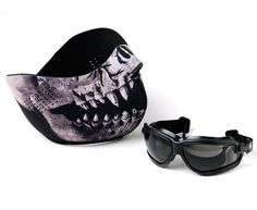 Game Face ForceFlex Military Grade Half Predator Mask and Airsoft Goggles Protection Set - $28.95