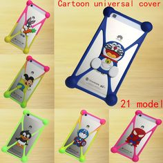 1.03$  Watch here - Cute Cartoon Silicone Universal Cell Phone Holster Cases For DEXP Ixion ES5 ES25 ML150 M LTE ES145 EL150 ES2 M350 M150 Cove   #SHOPPING