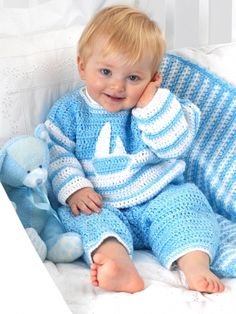 Sailor Suit | Yarn | Free Knitting Patterns | Crochet Patterns | Yarnspirations