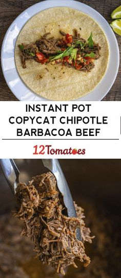 Hottest Screen Instant Pot Copycat Chipotle Barbacoa Beef Popular Nowadays I am going to exhibit you how to make the classic club sandwich. This double decker meal i Mexican Food Recipes, Beef Recipes, Cooking Recipes, Easy Recipes, Recipies, Instant Pot Pressure Cooker, Pressure Cooker Recipes, Beef Dishes, Food Dishes
