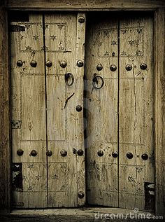 Two Ancient Doors Stock Photography - Image: 6320662