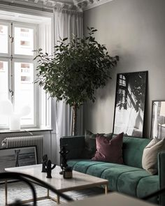 〚 Swedish apartment in trendy tones sqm) 〛 ◾ Photos ◾Ideas◾ Design - aya ashraf - internationally inspired Retro Living Rooms, Living Room Modern, Family Room Furniture, Cool Furniture, Style At Home, Swedish Interior Design, Sitting Room Decor, Design Apartment, Living Room Update