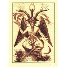 Baphomet A4 Pagan Poster
