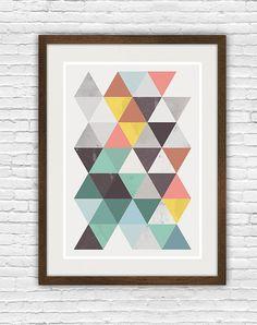 Abstract geometric print, scandinavian design