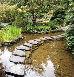 Stepping stone bridge