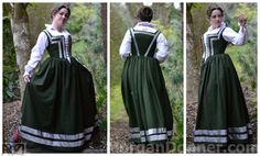 Simple late 16th century kirtle, based on peasants in the areas around Venice, Italy.
