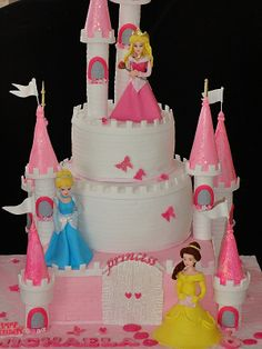 Here's another take on the Disney castle cake! Who's looking forward to being able to make the one in the collection?