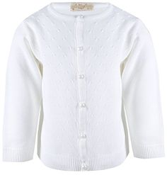 5e6aa02cfdb8de Lilax Little Girls' Knit Cardigan Sweater White: Lilax is a brand that  compiles authentic design and beautiful dresses for children who deserve  compassion ...