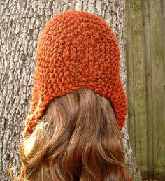 Quemado campana naranja naranja mujer sombrero naranja oído