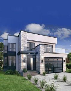 Thiết kế nhà 2 tầng lấy sáng thông minh