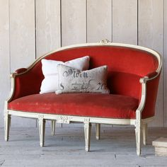 Eloquence One of a Kind Antique Directoire Louis XVI Upholstered Canap. #laylagrayce