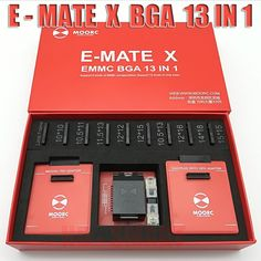 2018 New MOORC E-MATE X E MATE PRO BOX EMMC BGA 13 IN 1 SUPPORT 100 136 168 153 169 162 186 221 529 254 Free shipping  Price: 148.00 & FREE Shipping  #tech #electronics #gadgets #lifestyle Bga, 13 In, Machine Design, Brand Names, Communication, Cool Things To Buy, The 100, Frame, Electronics Gadgets