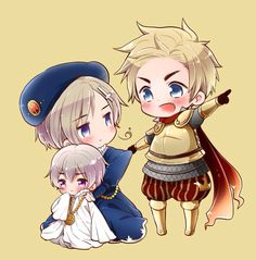 Hetalia (ヘタリア) - Denmark, Norway, & Iceland