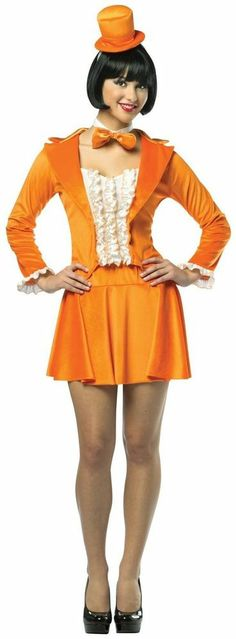 Sexy Orange Dumb and Dumber Lloyd Christmas Adult Tuxedo Dress
