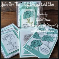 You've Got This - Stampin' Up! Gift Bag created using Stampin Up Gift Bag Punch Board. Stampin Up Catalog, Punch Board, Decorative Boxes, Create, Bag, Cards, Gifts, Presents, Planner Organization