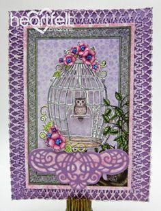 Heartfelt Creations   Little Owl Birdcage