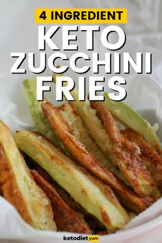 The Best Crispy Zucchini Fries with only 4-Ingredients! Zucchini fries are great for the keto diet and these zucchini fries are baked instead of fried (less calories!). A super simple recipe that you're going to make over and over again! Low Carb Zucchini Fries, Bake Zucchini, Low Carb Recipes, Diet Recipes, Healthy Recipes, Comida Keto, Keto Side Dishes, Recipes For Beginners, Breakfast