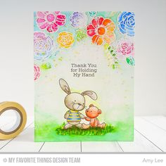 Snuggle Bunnies, Pretty Posies - Amy Lee #mftstamps