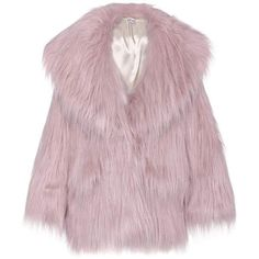 Miu Miu Faux-Fur Jacket (€1.425) ❤ liked on Polyvore featuring outerwear, jackets, coats, faux fur, fur, pink, pink faux fur jackets, fake fur jacket, pink jacket and faux fur jacket