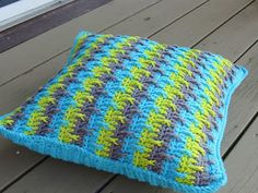 Textured Throw Pillow  Cover Crochet Pattern, Free Pattern