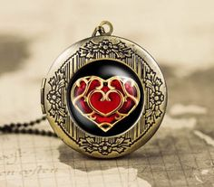 Heart container necklace from Zelda.